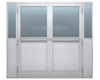 Aluminum cleanrom double doors