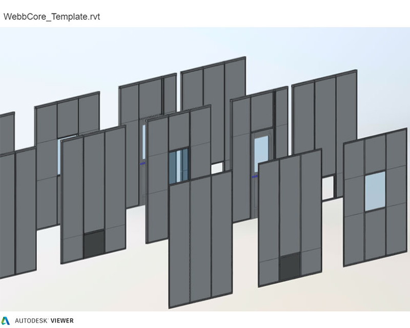 Wall system Revit file