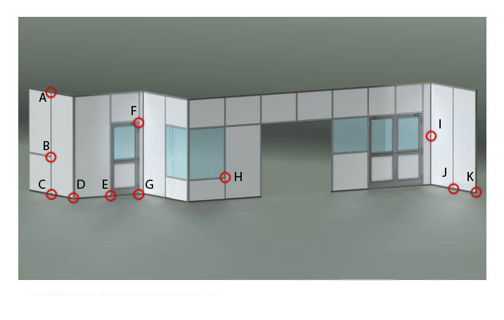 Double Sited Cleanroom Wall System